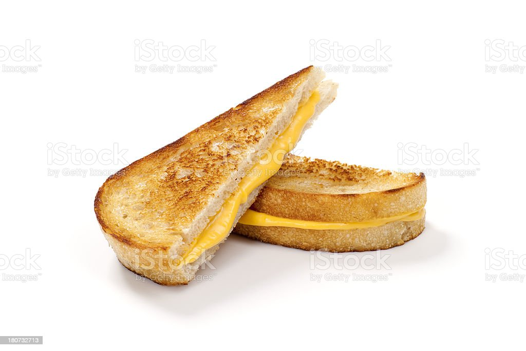 Grilled Cheese Sandwich on Sourdough Bread stock photo