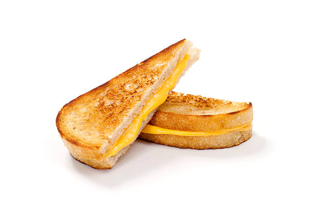 grilled cheese sandwich on sourdough bread - cheese sandwich bildbanksfoton och bilder