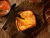 istock Grilled Cheese Sandwich With Tomato Soup 508498014