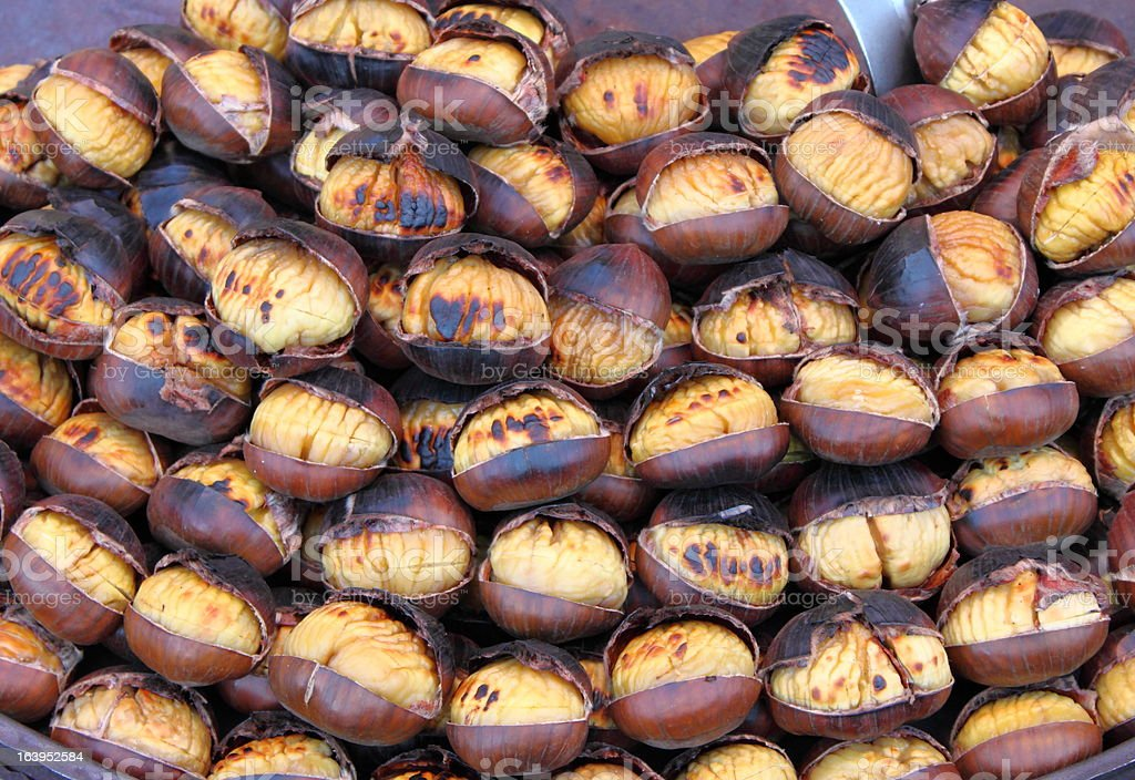 Grilled chestnuts royalty-free stock photo