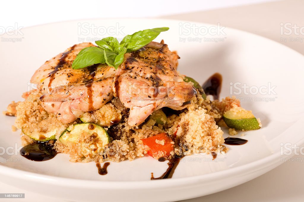 Grilled Chicken and Balsamic Vinaigrette royalty-free stock photo