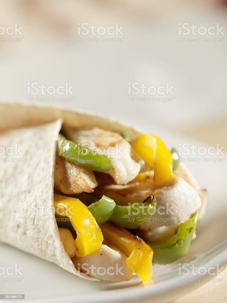 Grilled Chicken and Pepper Fajita royalty-free stock photo