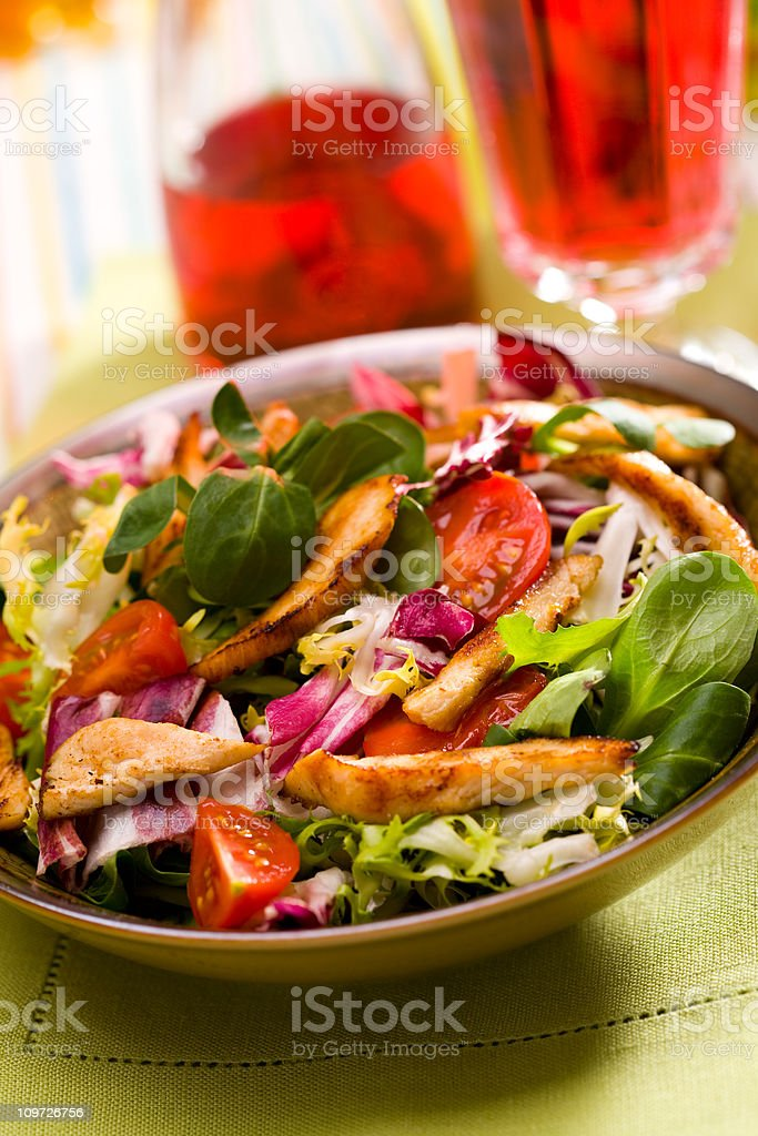 Grilled Chicken Breast Salad royalty-free stock photo