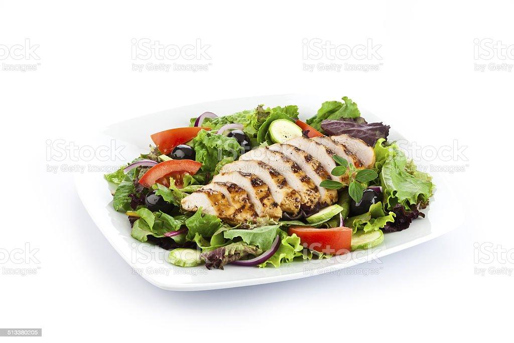 Gegrillte Hühnchenbrust-Salat – Foto