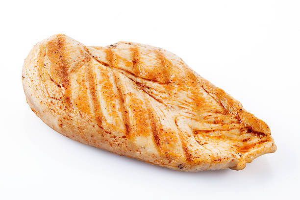 Grilled chicken breast with clipping path Grilled chicken breast with clipping path grilled chicken breast stock pictures, royalty-free photos & images