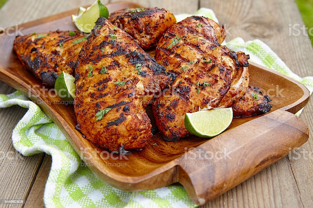 Grilled chicken breast with lime - Photo
