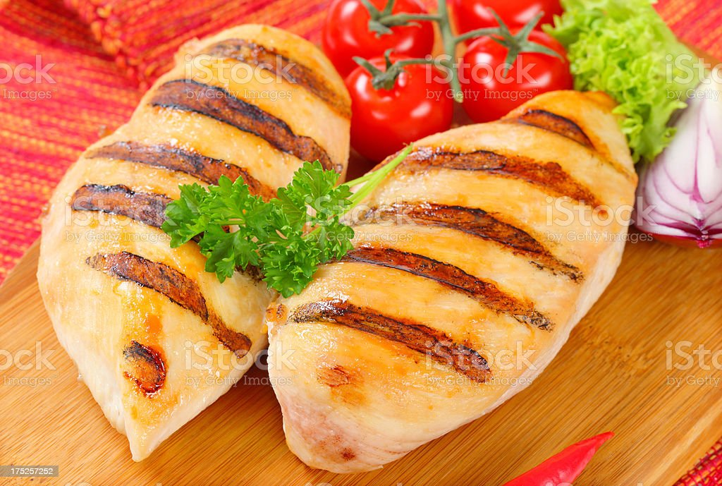grilled chicken breasts royalty-free stock photo