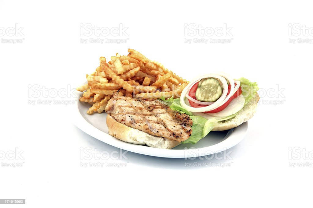 Grilled Chicken Burger royalty-free stock photo