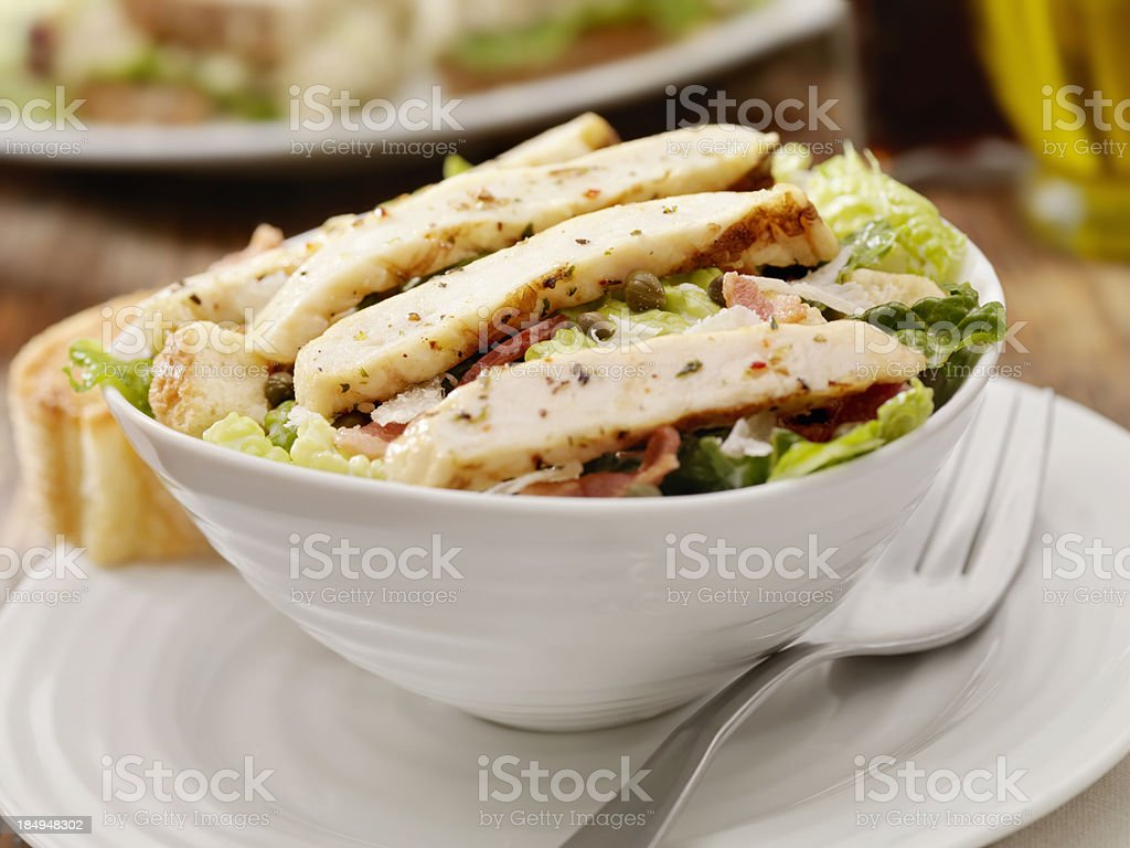 Grilled Chicken Caesar Salad royalty-free stock photo