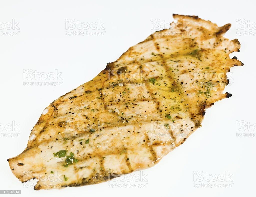 Grilled Chicken Paillarde royalty-free stock photo