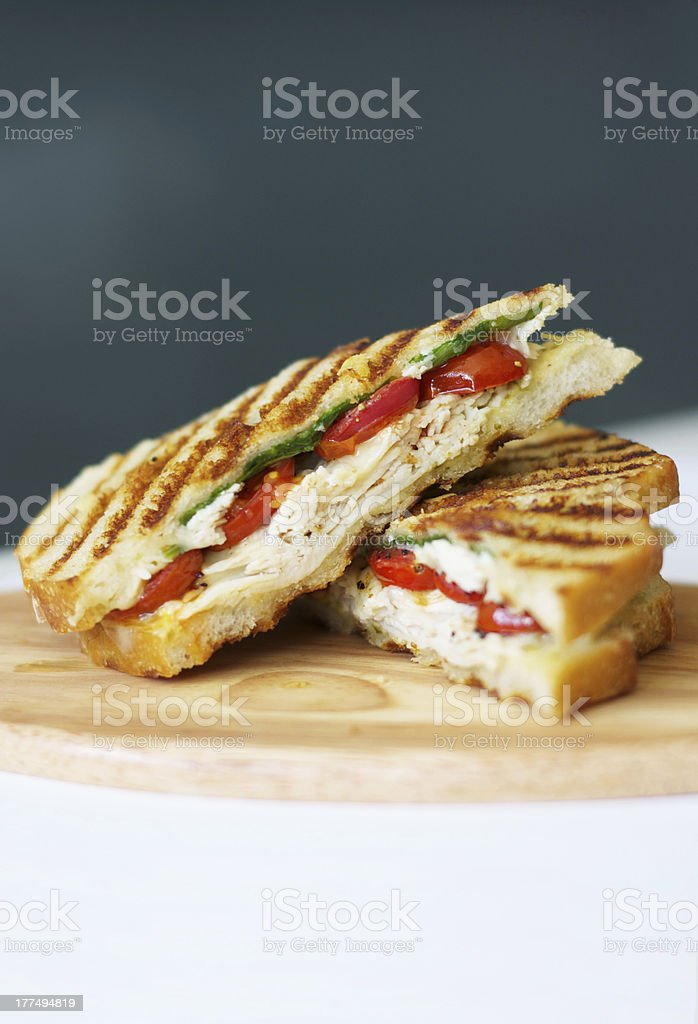 Grilled Chicken Panini stock photo