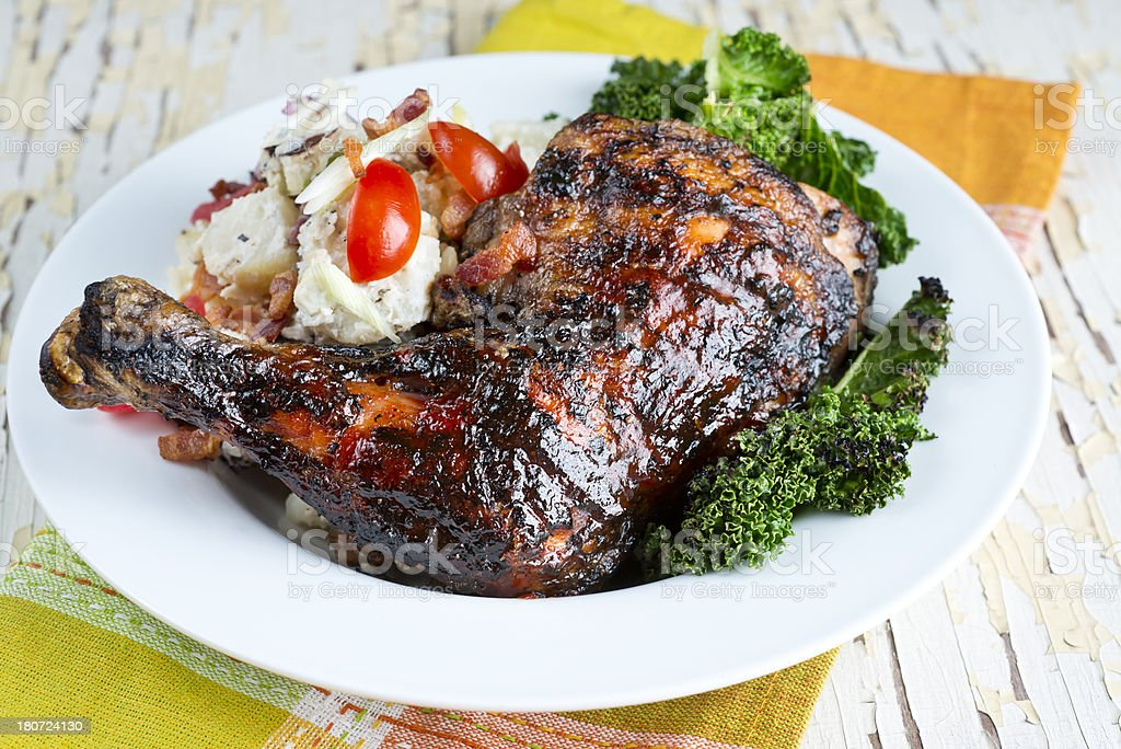 Grilled Chicken Quarter royalty-free stock photo