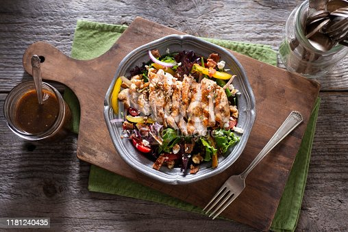 Grilled Chicken Salad with Homemade Vinaigrette Dressing