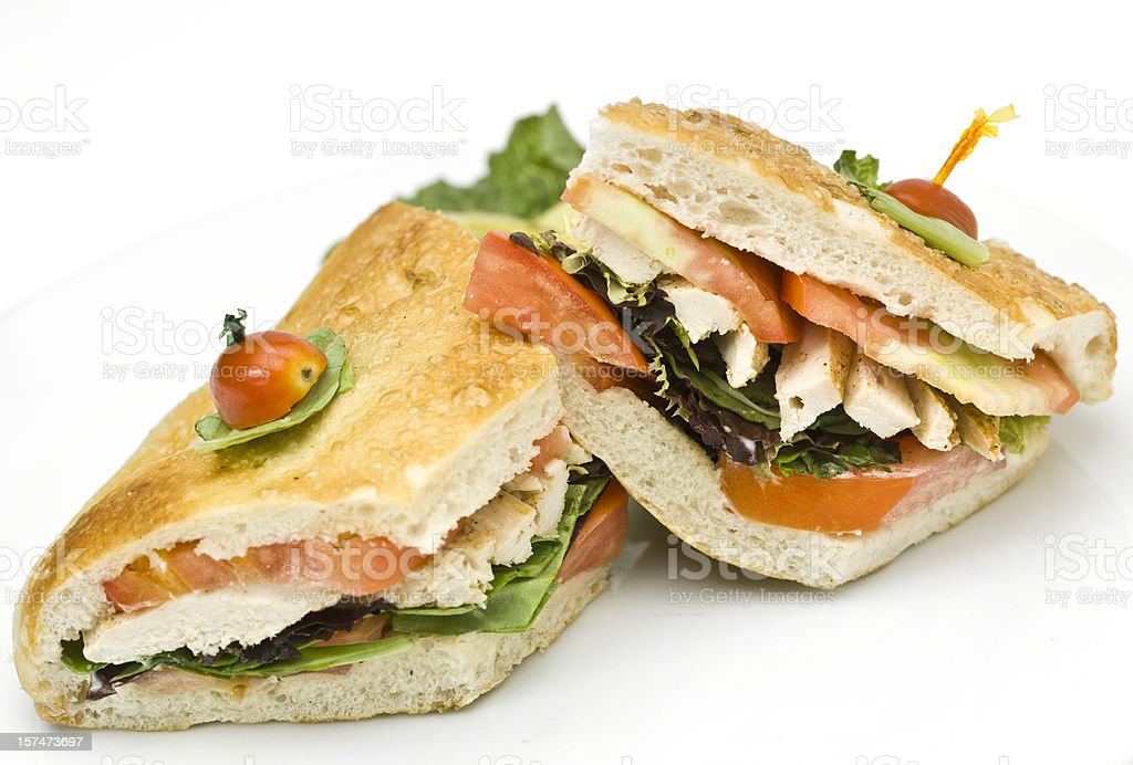 Grilled chicken sandwich royalty-free stock photo