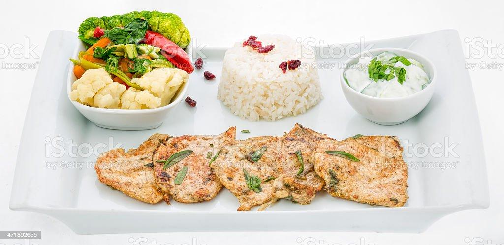 Grilled chicken - steak royalty-free stock photo