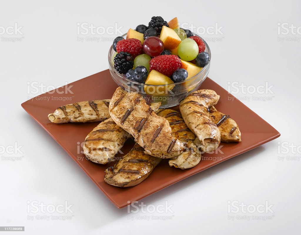 Grilled Chicken Strips royalty-free stock photo