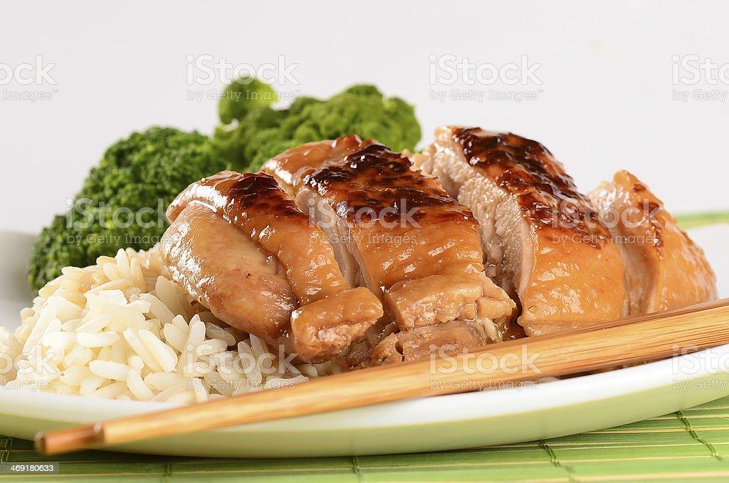 Grilled chicken Teriyaki stock photo