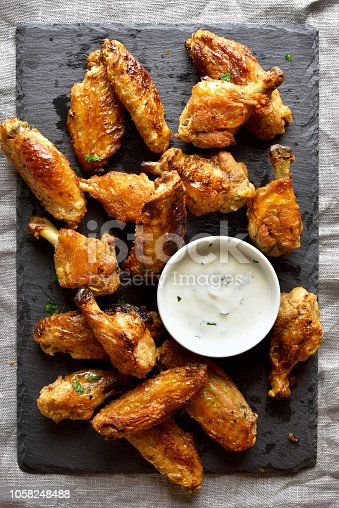 istock Grilled chicken wings 1058248488