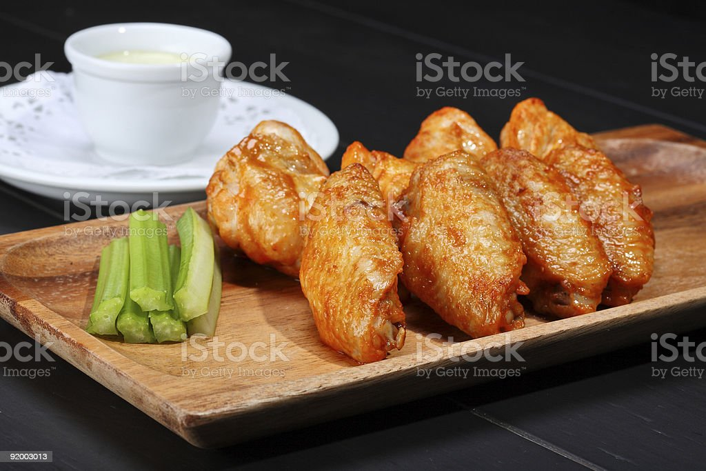 Grilled chicken wings royalty-free stock photo