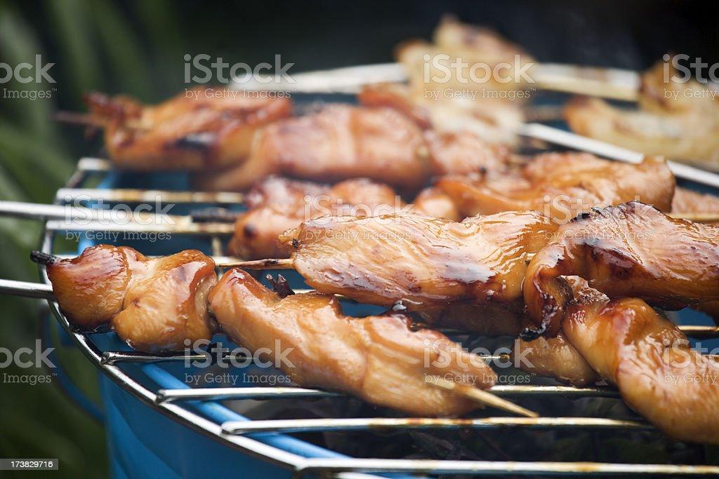 grilled chicken yakitori royalty-free stock photo