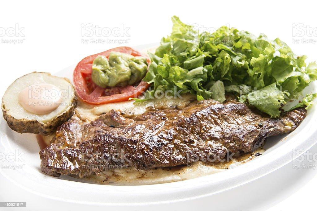Grilled Churrasco (sirloin steak) stock photo