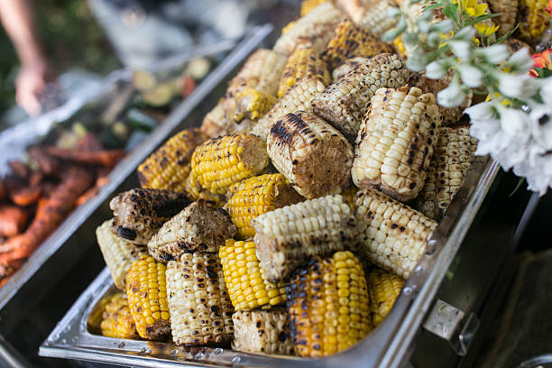 Grilled Corn on the Cob stock photo