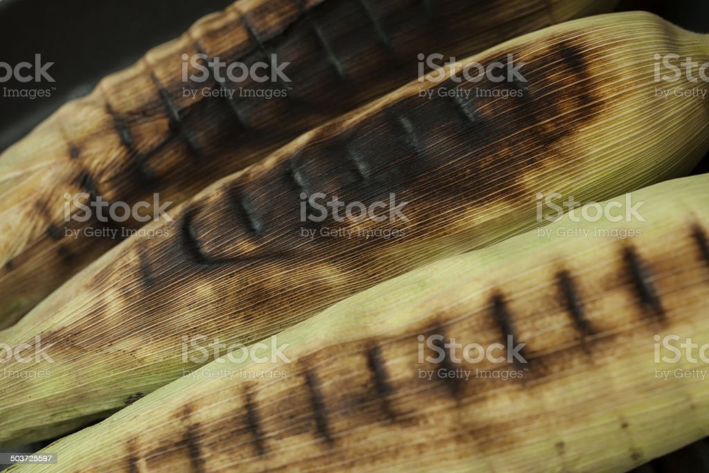 Grilled corn royalty-free stock photo