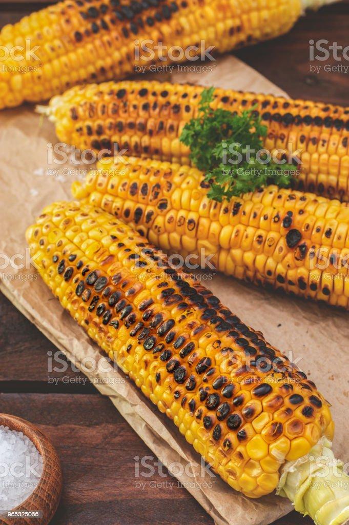 Grilled Corn zbiór zdjęć royalty-free