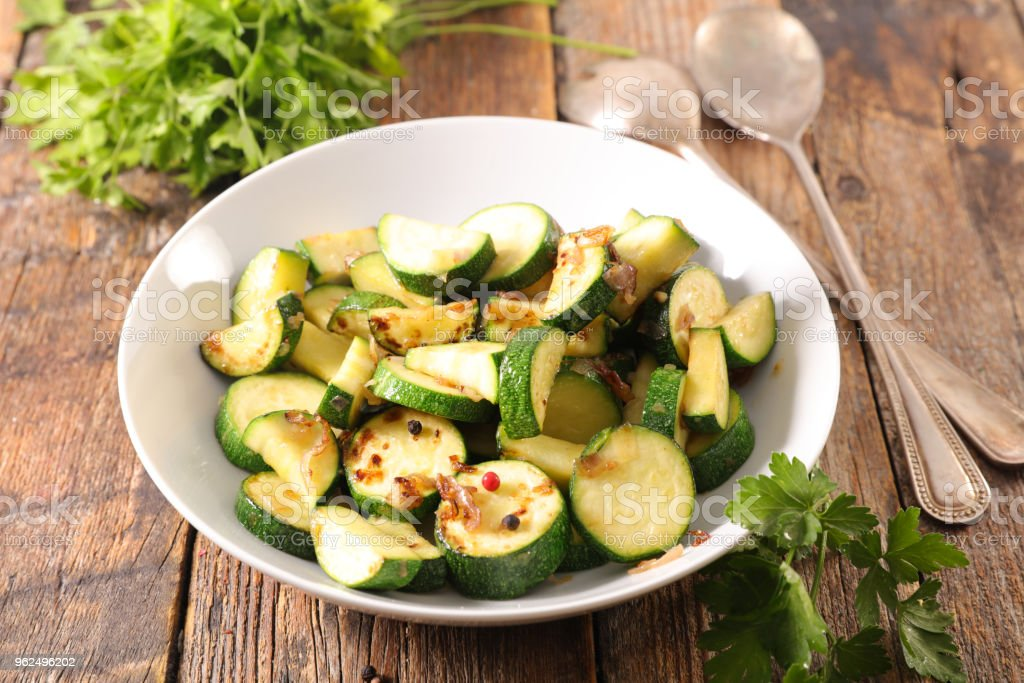 grilled courgette and herbs - Royalty-free Bowl Stock Photo