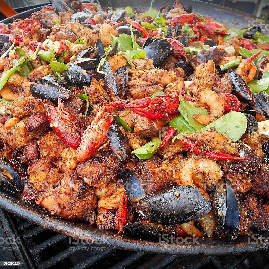 Grilled creole saute royaltyfri bildbanksbilder