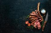 rump steak with bernaise sauce