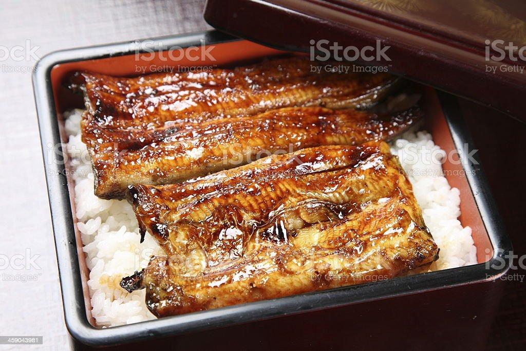 Gegrillte eels auf Reis – Foto