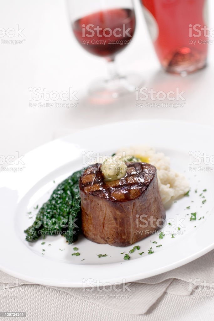 Grilled Filet Mignon royalty-free stock photo