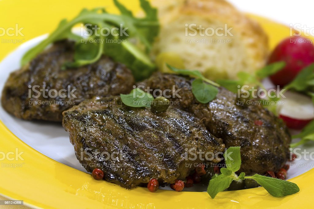 Grilled Fillet-Sirloin of Lamb royalty-free stock photo