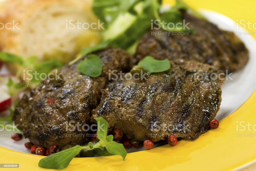 Grilled Fillet-Sirloin of Lamb,gourmet steak royalty-free stock photo