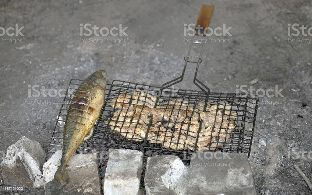 Grilled fish. royalty-free stock photo