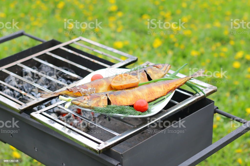 Grilled fish. - Royalty-free Barbecue Stock Photo