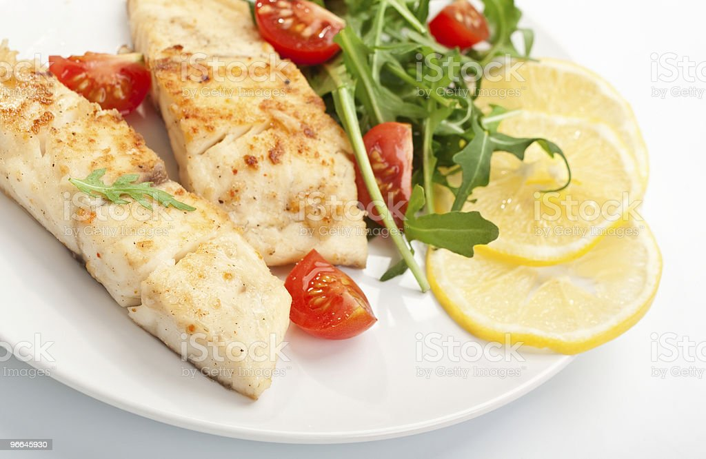 grilled (fried) fish stock photo