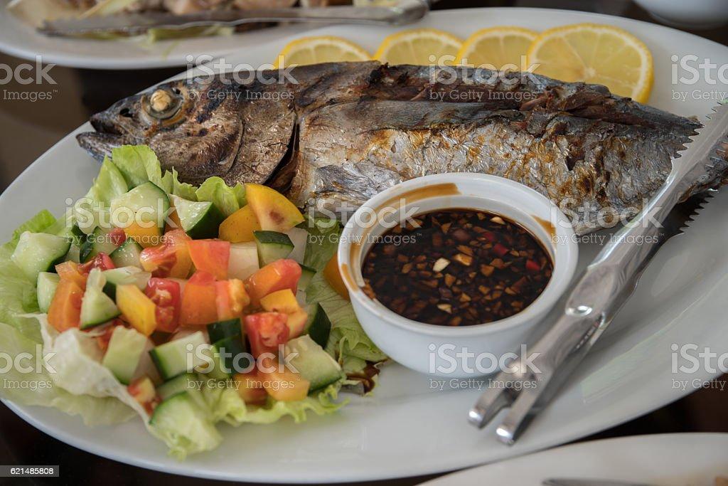 grilled fish-yellow fin Lizenzfreies stock-foto
