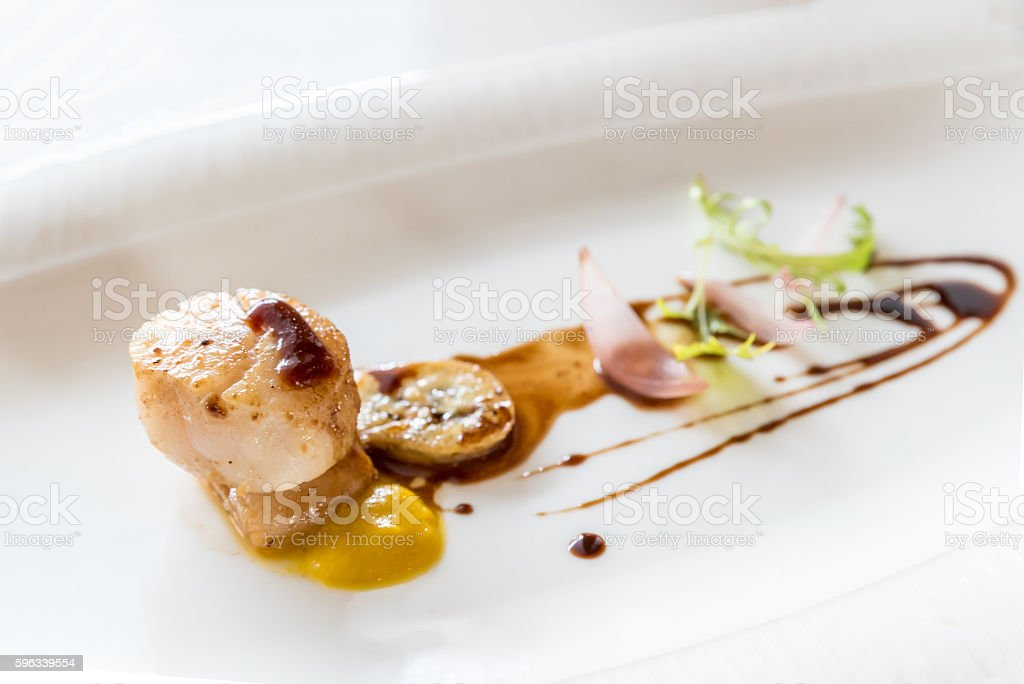 Grilled fried scallop royalty-free stock photo