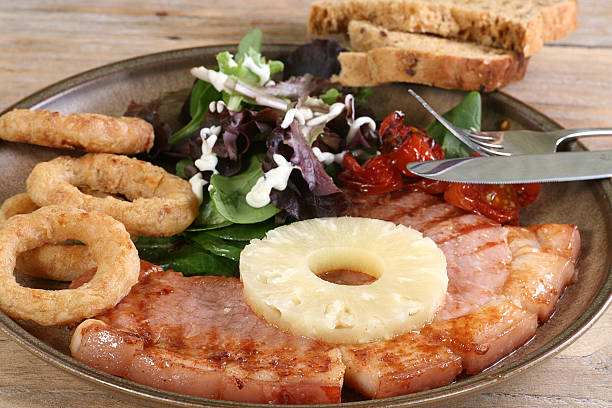 grilled gammon stock photo