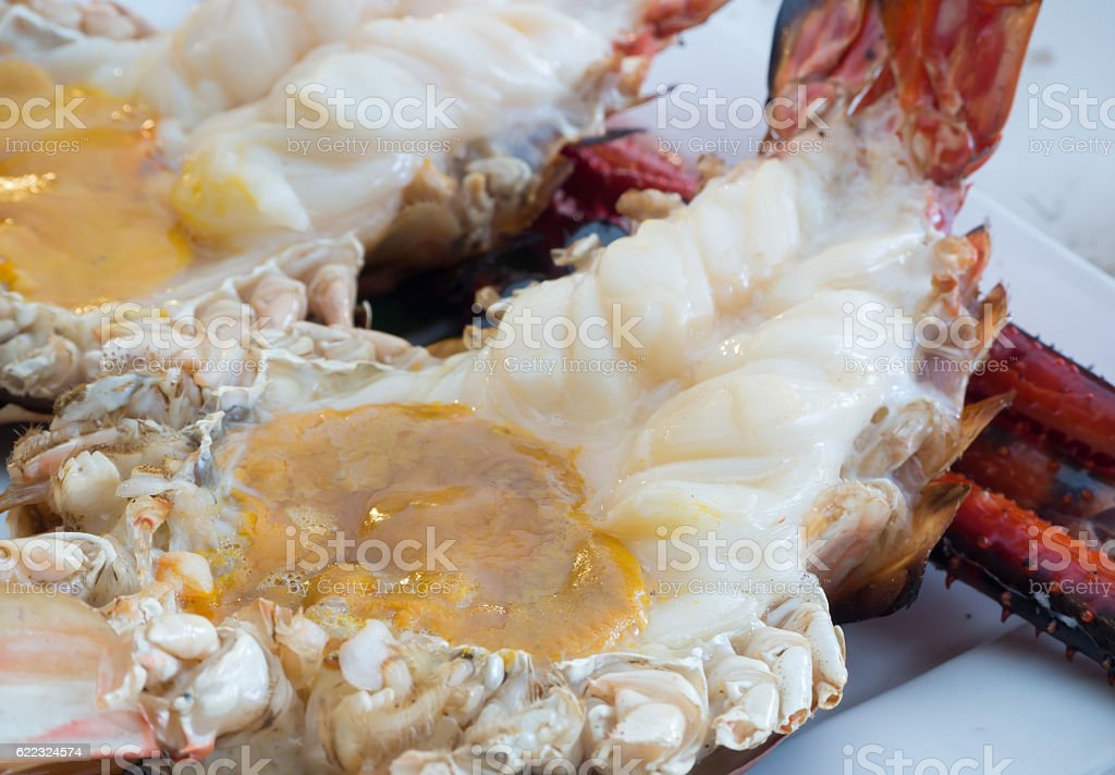 Grilled Giant River Prawn The Best Food In Thailand Stock
