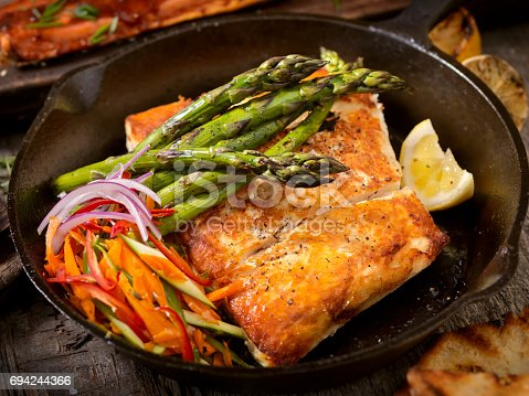 istock Grilled Halibut 694244366