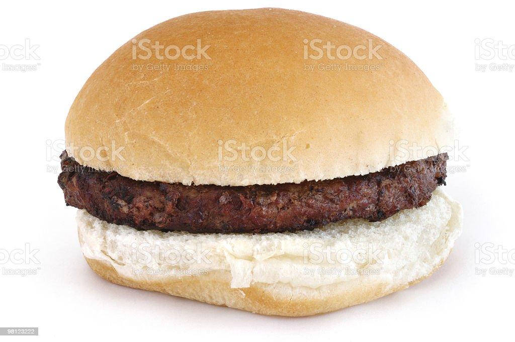 Grilled Hamburger on a Bun royalty-free stock photo