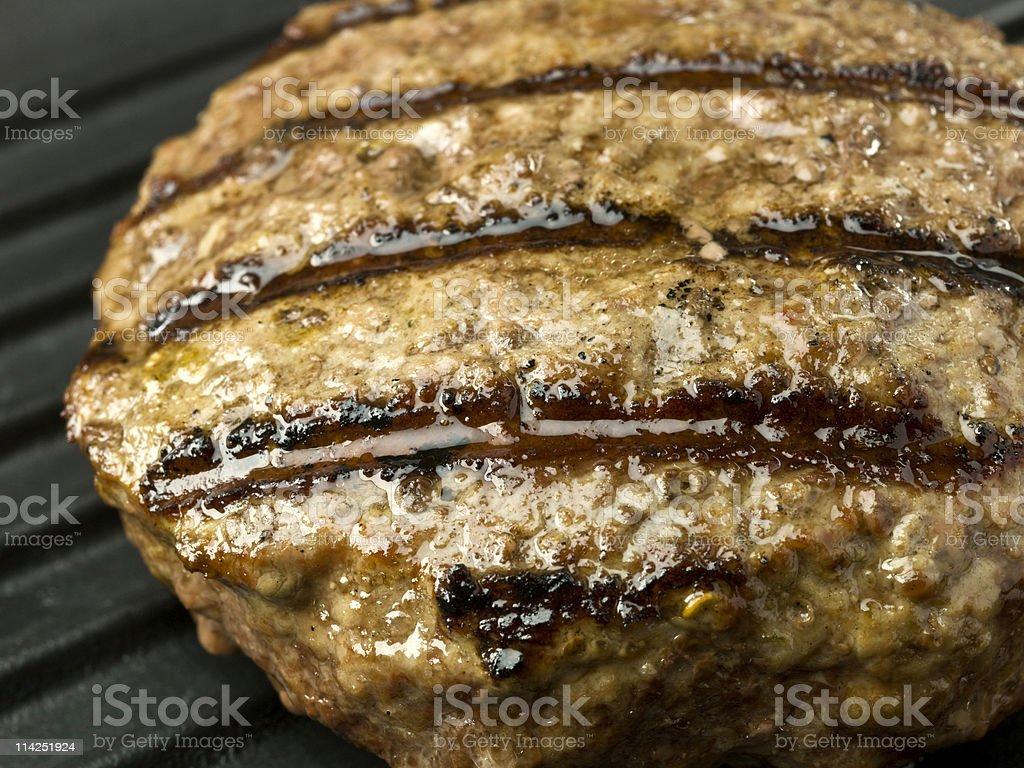 Grilled Hamburger stock photo