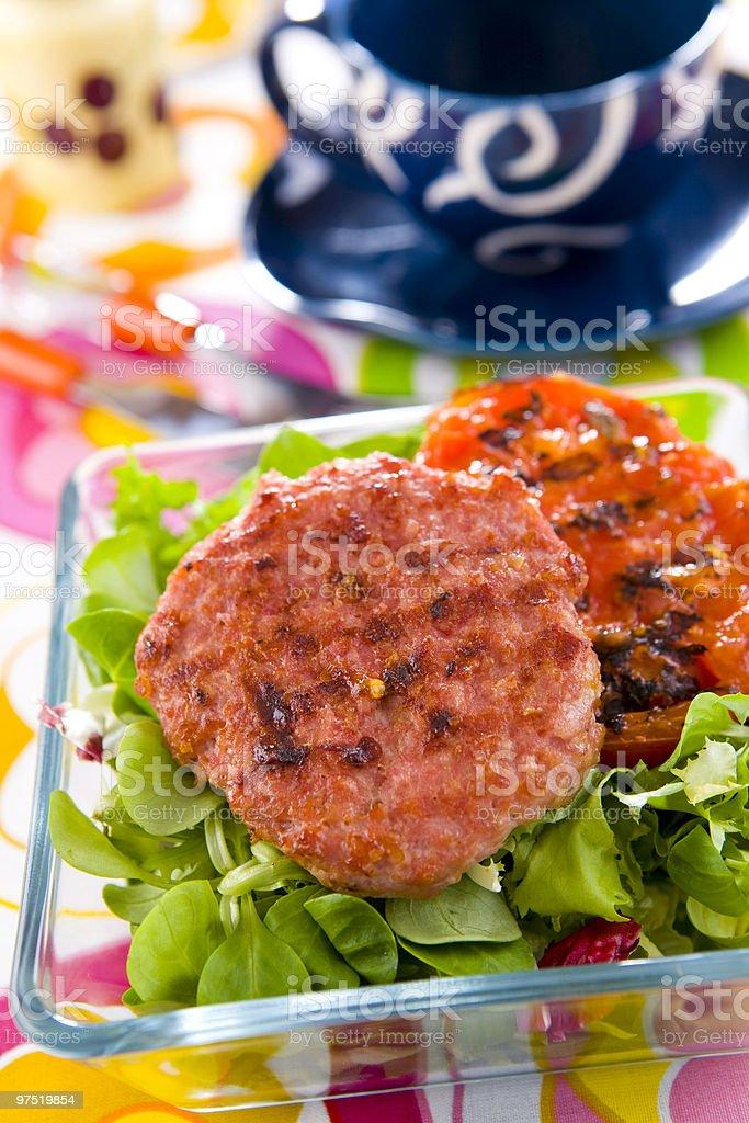 grilled hamburger royalty-free stock photo