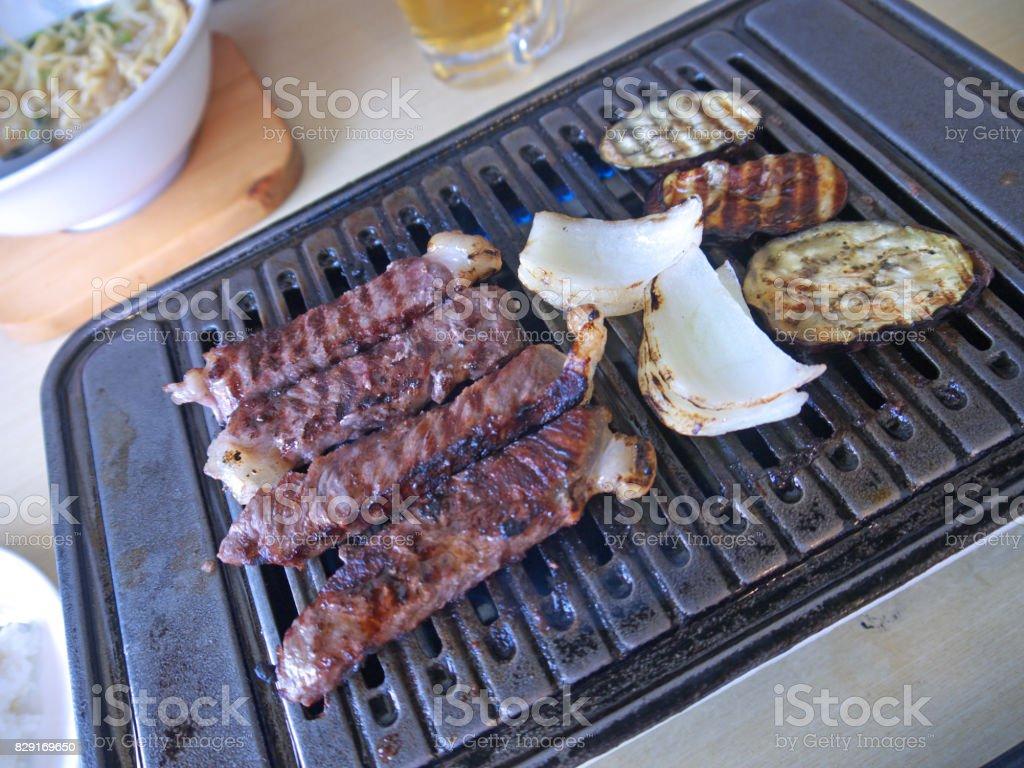 Japanische Rindfleisch vom Grill Lizenzfreies stock-foto
