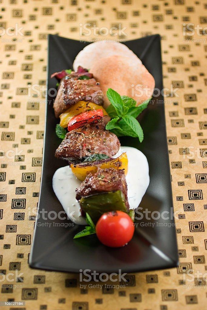 Grilled Kalbi Kebab royalty-free stock photo