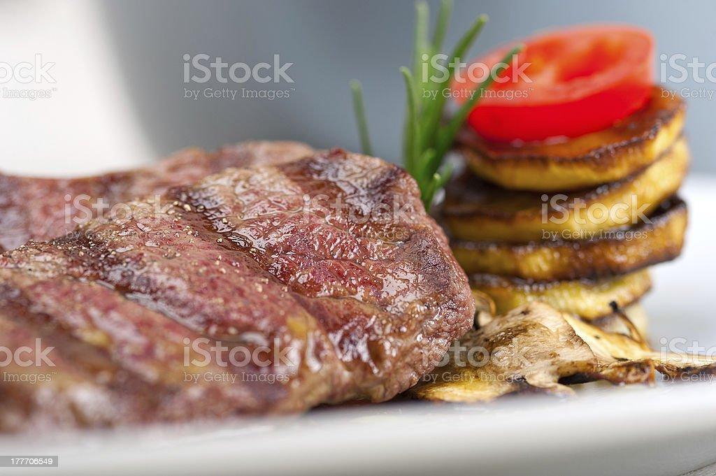 grilled Kobe Miyazaky beef stock photo