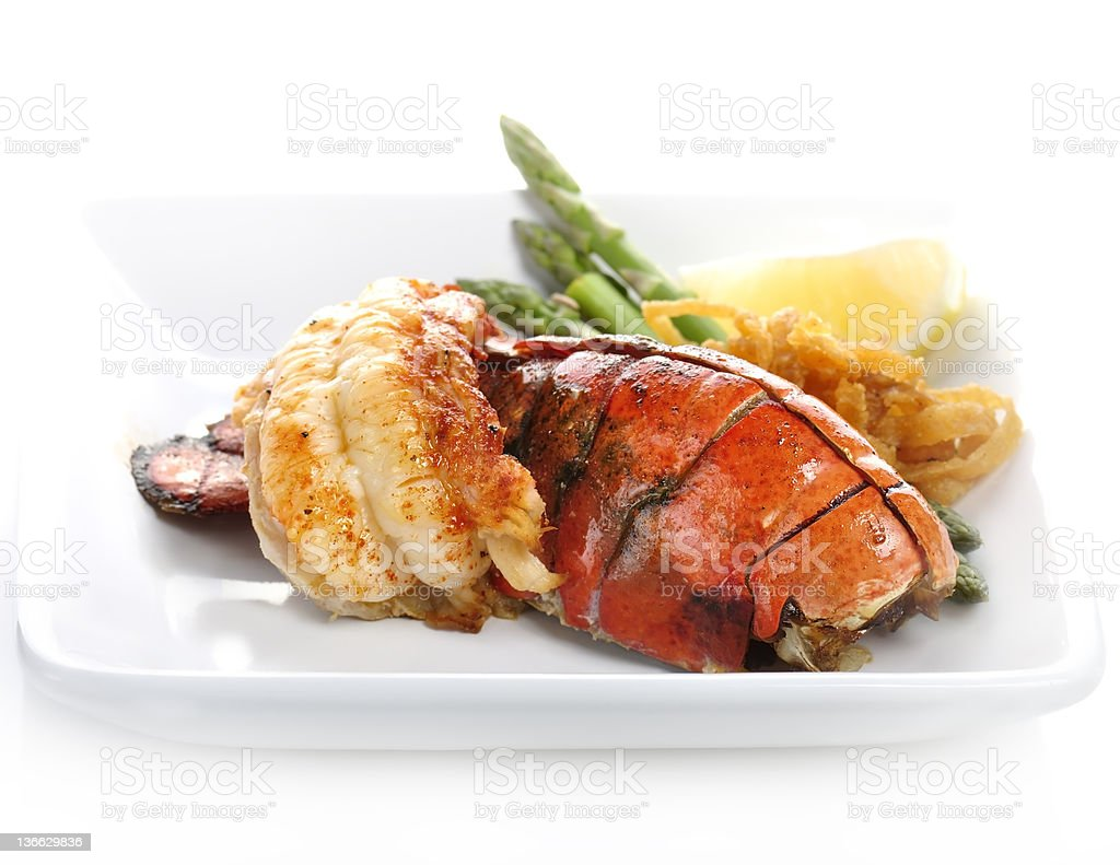 Grilled Lobster Tail royalty-free stock photo